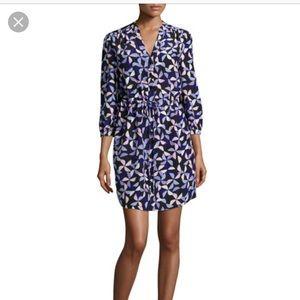 """KATE SPADE 100% Silk """"Spinner Shirt Dress"""" XS"""
